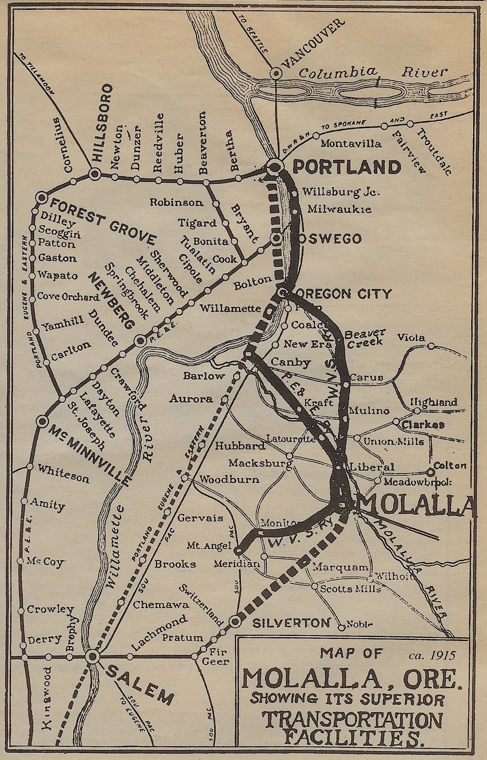 The Willamette Valley Southern Railway Company Highway213 Com